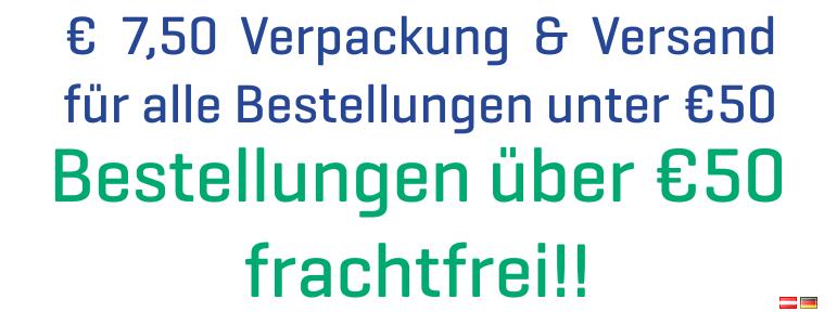 Versandkostenfrei ab 50€ darunter nur 7,5€ Verpackungs und Versandkosten